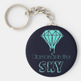 Diamonds in the Sky! Basic Round Button Key Ring