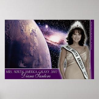 Diana Santoro, Mrs. North America Galaxy 2002-4 Print