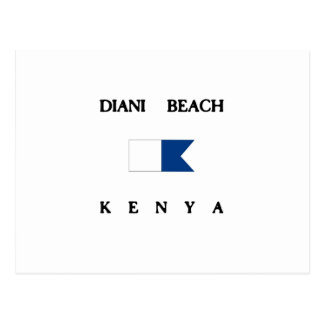 Diani Beach Kenya Alpha Dive Flag Postcard