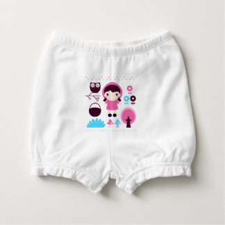 Diaper baby bloomers with Manga girl Nappy Cover