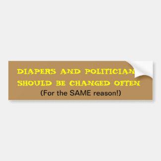 Diaper Change Car Bumper Sticker