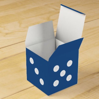 Dice Gift Box - White Pips w/ Customizable Color Favour Box