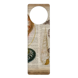 dictionary print french country vintage seashell door hanger