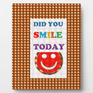 DID U SMILE today? Wisdom Golden Text Jewel FUN Plaques