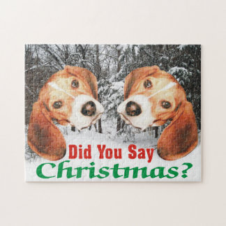 Did You Say Merry Christmas? Beagle Jigsaw Puzzle