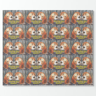 Did You Say Rabbit? Beagle Woodland Wrapping Paper