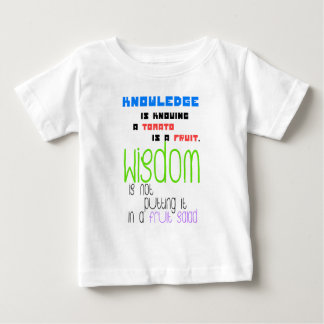 """""""Difference between knowledge and wisdom"""" quote Tee Shirts"""