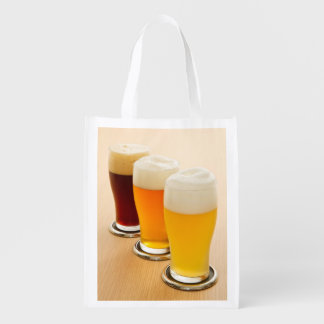 Different types of beer reusable grocery bag