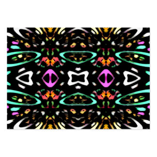 Digital Abstract Art Multicolored Pattern Business Card Template
