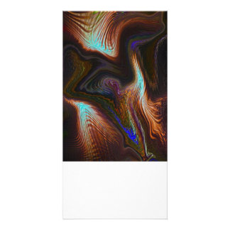 Digital Abstract Photo Card Template