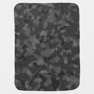 Digital Black Camo Buggy Blankets