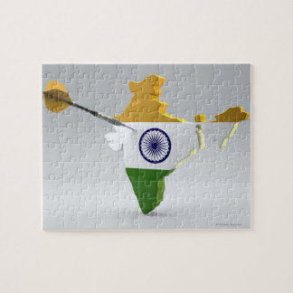 Digital Composite of India Jigsaw Puzzle