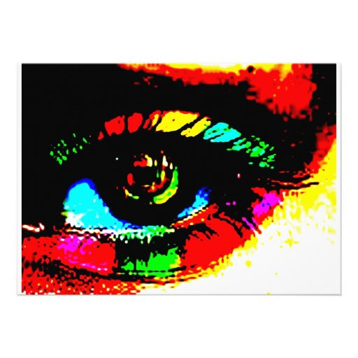 Digital Graffiti Eye Invites