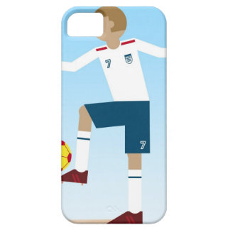 Digital illustration of football player wearing barely there iPhone 5 case