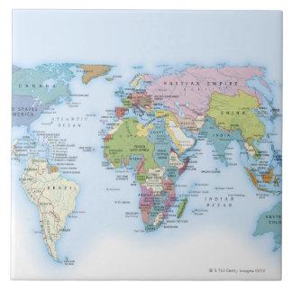 Digital illustration of the world in 1900 tile