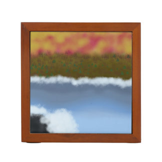 Digital Painting_Lake Waves Desk Organizer