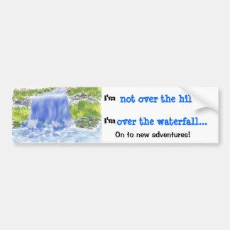Digital Painting_Waterfall Bumper Sticker Car Bumper Sticker
