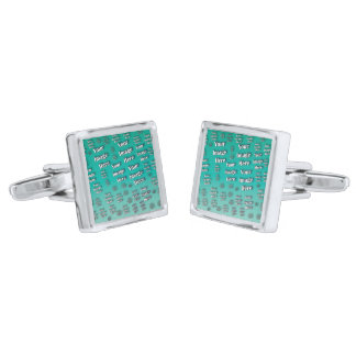 Digital Photo Template Silver Finish Cufflinks