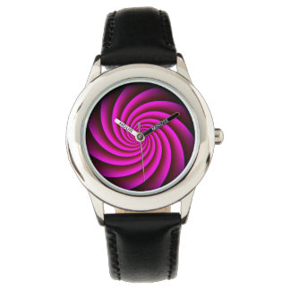 Digital Rose Swirl by Julie Everhart Wristwatch
