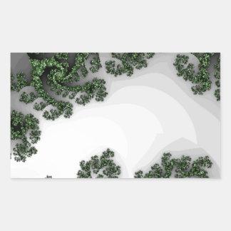 Digital Sea Dragon Rectangular Sticker