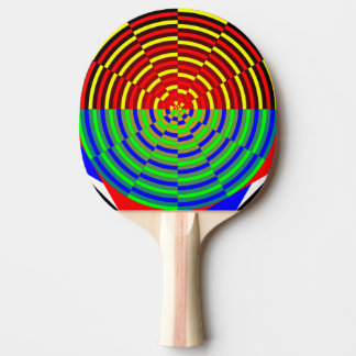 Digital Sunset by Kenneth Yoncich Ping Pong Paddle