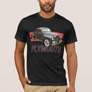 Digitally enhanced image of a black 1941 Plymouth T-Shirt