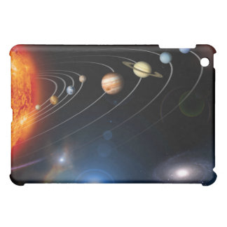 Digitally generated image of our solar system iPad mini case