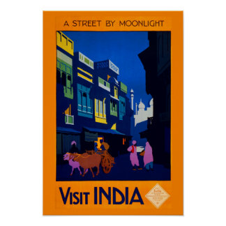 Digitally Remastered Vintage India Travel Poster