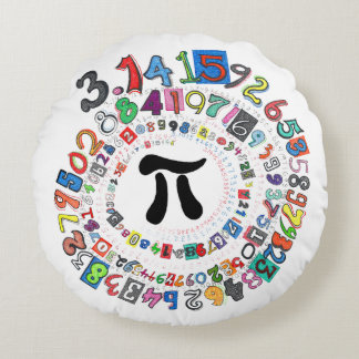 Digits of Pi Form a Colourful Spiral Round Cushion