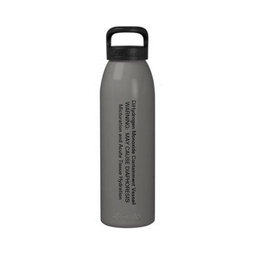 Dihydrogen Monoxide Bottle Reusable Water Bottles Zazzle