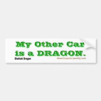 Dinétah Dragon Other Car Bumper Sticker