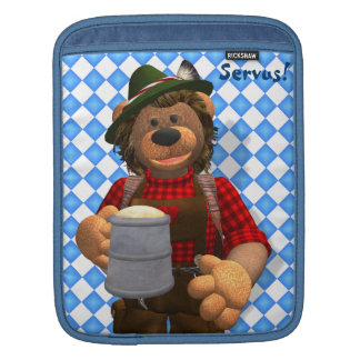 Dinky Bears Bavarian Oktoberfest Bear iPad Sleeves