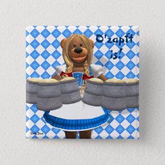 Dinky Bears Bavarian Oktoberfest Zenzi 15 Cm Square Badge