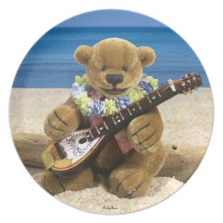 Dinky Bears Beach Guitarist Plate