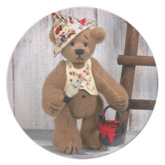 Dinky Bears Little Painter Plate