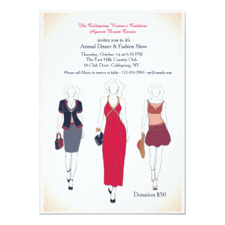 Dinner and Fashion Show Invitations