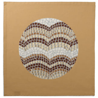 Dinner cloth napkins with beige mosaic