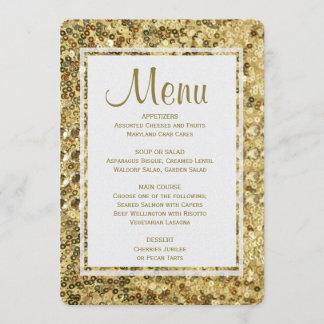 Dinner Menu | Gold Sequins