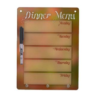 Dinner Menu Whiteboard