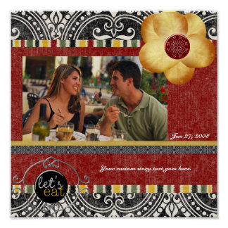 Dinner Party Scrapbook Page Poster
