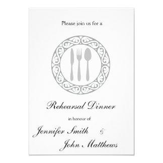 Dinner Plate Rehearsal Dinner Invitations
