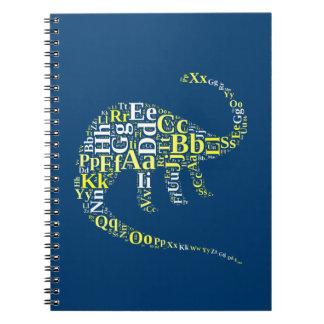 Dino alphabet spiral notebook