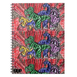 Dino art notebook