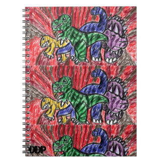 Dino art spiral notebook