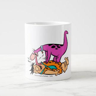 Dino Licking Fred Flintstone Giant Coffee Mug
