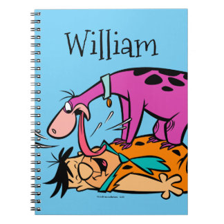 Dino Licking Fred Flintstone Spiral Notebooks