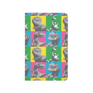 Dino Silhouette Four Square Journal