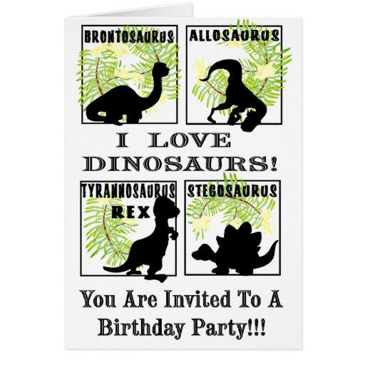 Dinobites Birthday Party Invitaitons ! Greeting Card