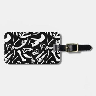 Dinosaur Bones (Black) Luggage Tag