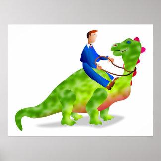 Dinosaur Business Poster